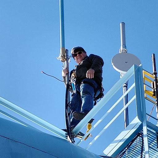 Byron installs new antenna
