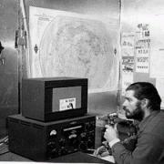 Amateur radio in Antarctica during the winter of 1956.