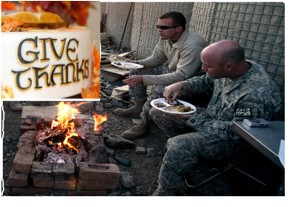 Thanksgiving on Combat Outpost Cherkatah, Khowst province, Afghanistan - (U.S. Army)